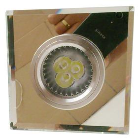 Kit 20 Spot De Emb Cristal Vidro Bizote 20 Lamp Led 6,5wats