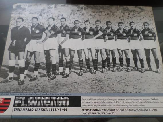 Poster Placar Flamengo Tri Campeão Carioca 1944 21x27cm