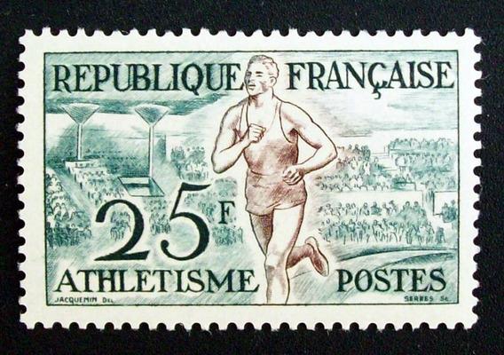 Francia - Sello Yv. 961 Atletismo Alto Nuevo L3098
