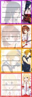 Etiquetas De Colegio De K-on Yui Mio Mugi Ritsu