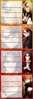 Etiquetas De Colegio De Naruto Shippuden Deidara Itachi Saso