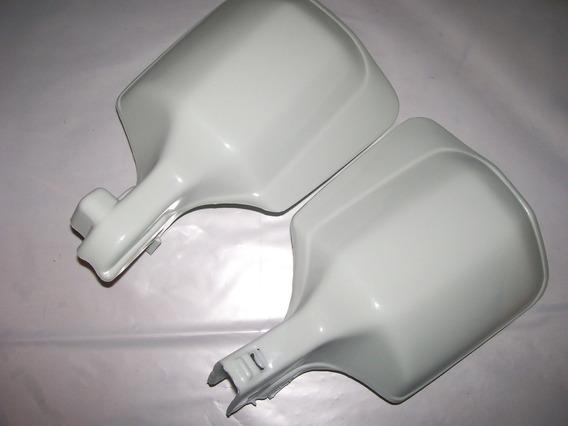 Par De Protetor De Mão Branco Honda Xlx 350 Sahara Nx Xr 200