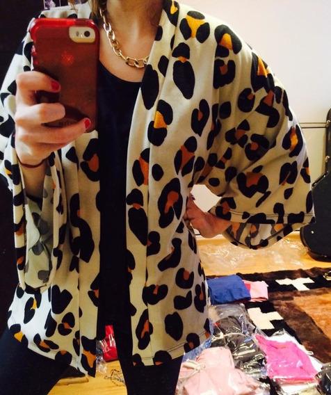 Saco Kimono En Lanilla
