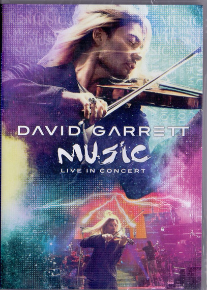 Dvd David Garrett - Music Live In Concert - Novo***