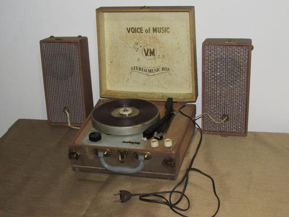 Toca Disco Vintage Americano Voice Of Music Para Reparo