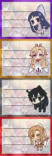 Etiquetas De Colegio De Sword Art Online Sao Asuna Kirito