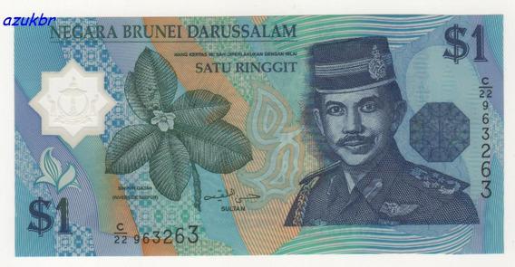 * Brunei - 1 Ringgit 1996 - P-22a - Polimero - Fe *