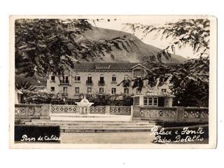 Cartao Postal Fotografico Palace Hotel Poços Caldas Anos 30
