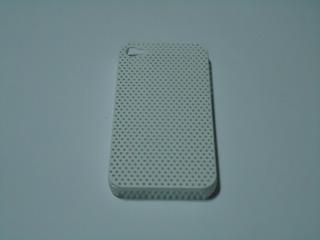 Capa Emborrachada Furos Para Celular iPhone 4 Branco