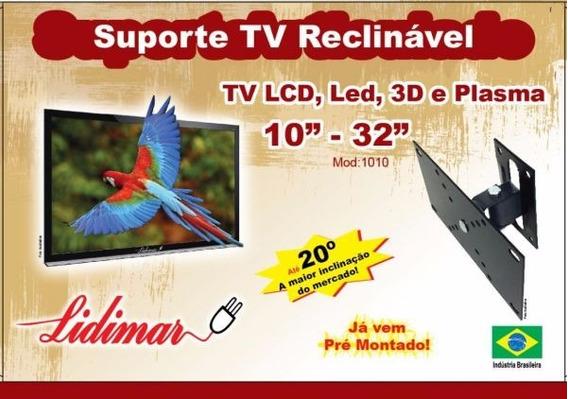 Suporte Tv Lcd/plasma Reclinável 10 A 32 Polegadas