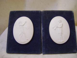 Pandal De Placas De Porcelana Biscuit Sevres