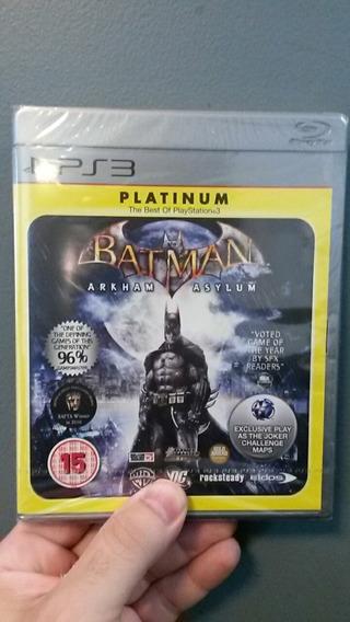 Batman Arkham Asylum - Ps3 - Lacrado