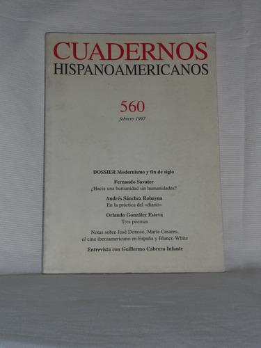 Imagen 1 de 1 de Cuadernos Hispanoamericanos N° 560  Febrero 1997