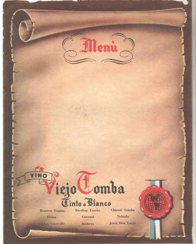 Vino Viejo Tomba - Menu