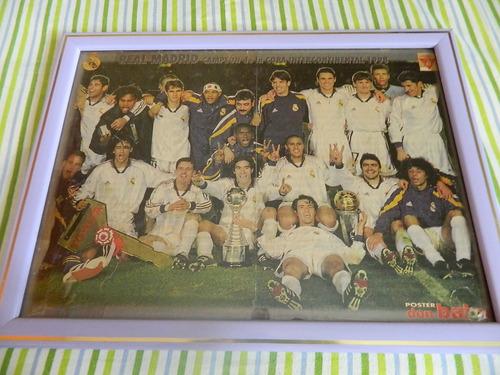 Imagen 1 de 2 de Cuadro Real Madrid Campeon Copa Intercontinental 99