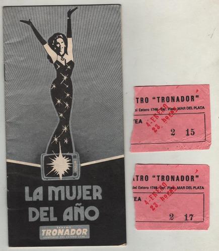 Susana Gimenez Y Ricardo Darin - Autografos - Entradas- 1985