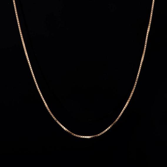 Corrente Veneziana Com 50cm Em Ouro 18k - 750 - 2,40grs