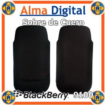 2x1 Funda Cuero Blackberry Pearl 9100 9105 Estuche Protector