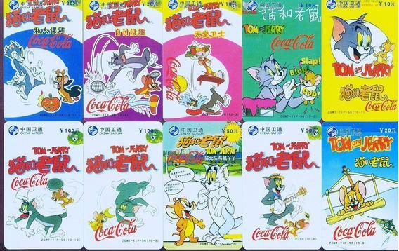 Coca Cola Y Tom Y Jerry - Lote Tarjetas Telefonicas Chinas