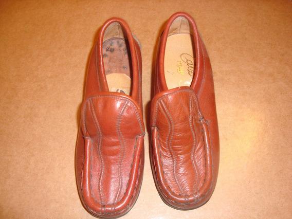 Par De Zapato Antiguo Sin Uso Nro 30 Marrón Impecable Estado