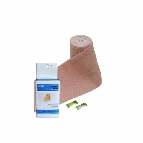 Venda Elástica De Algodón Hipoalergenica 10 Cm X 2 Mt Ptm