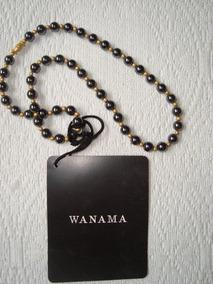 Wanama Collar Gargantilla Perlas Negras-doradas E.gratis Cuo