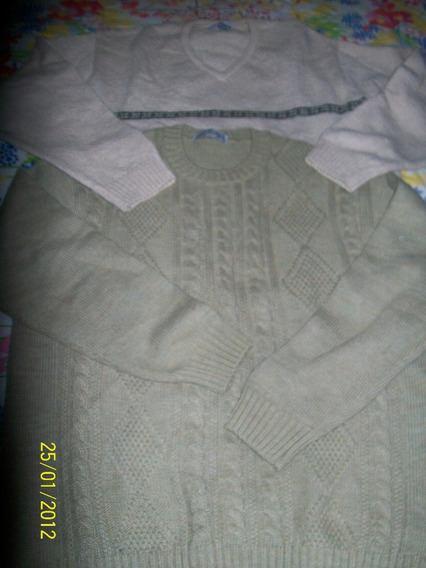 Sweater Hombre Cuello Redondo Con 8 Y Rombos Mauro Sergio