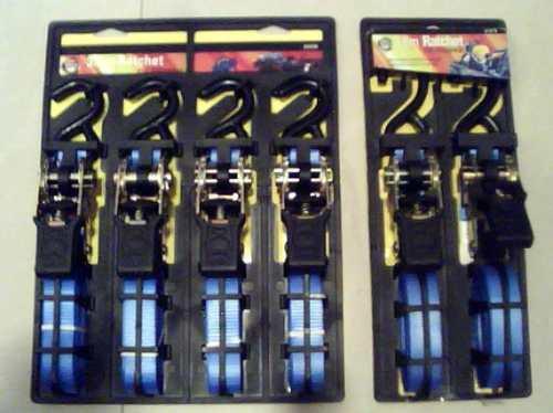 Imagen 1 de 5 de Cincha Con Rachet 1pulgx3,6mt Amarre  Carros 1, 2 Y 4 Piezas