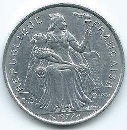 Moneda Polinesia Francesa 5 Francos 1977 Barata