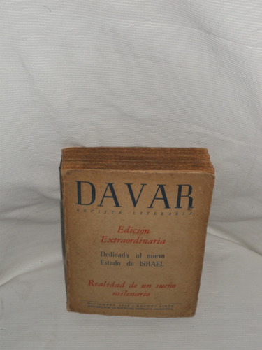 Imagen 1 de 1 de Davar. Revista Literaria -  Dic. 1948.