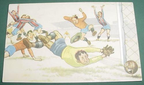 Postal Postcard Futbol Infantil San Lorenzo Independiente