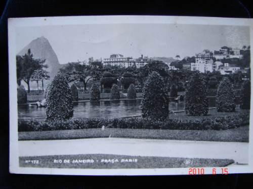 Rio De Janeiro. Plaza Paris. Antigua Postal