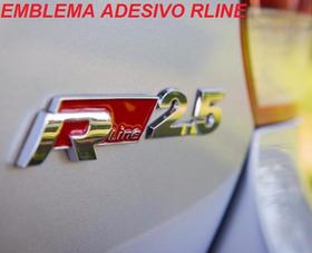 2 Emblema Adesivo Rline Vw Jetta Passat Golf Tiguan Gol Fox