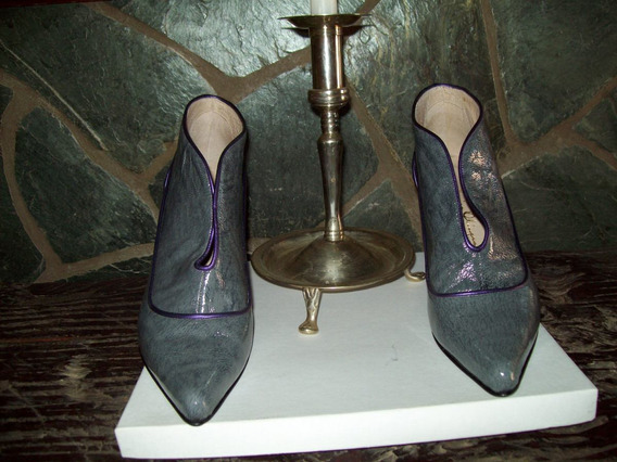 Color Gris!! Siempre De Moda!! Zapatos Monica Olivera (nº40)