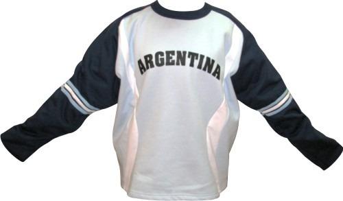 Buzo Argentina Friza Algodon Y Poliester Excelente Calidad