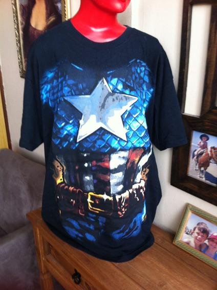 Camiseta Capitão América Importada Licenciada Usada
