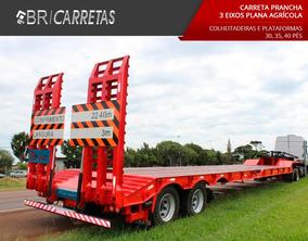 Carreta Prancha 3 Eixos Agricola Br Implementos 2017 0 Km