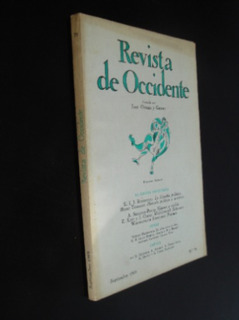 Revista De Occidente N 78 1969 Rosenthal Terrasse Oleza