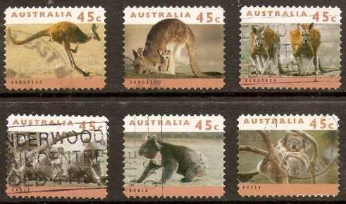 Australia - Fauna - Canguro - Coala - Serie Compl 6 Valores