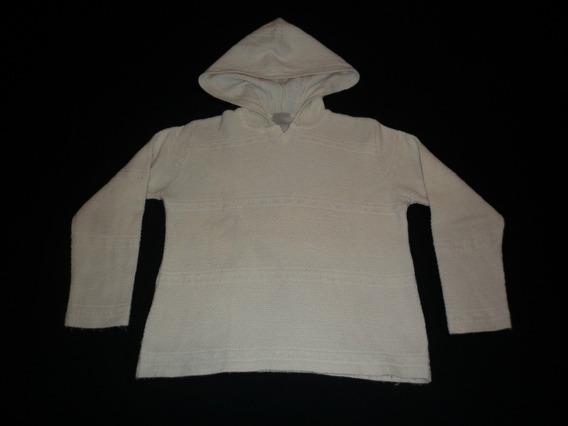 Sweater Pullover Femenino Nicolini Con Capucha Lana Merino M