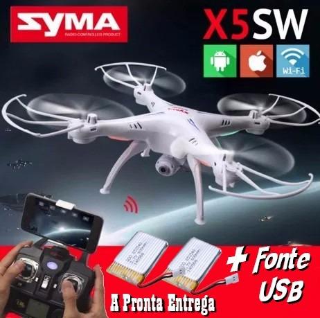 Drone Syma X5sw Fpv Câmera Wifi + Bateria Extra