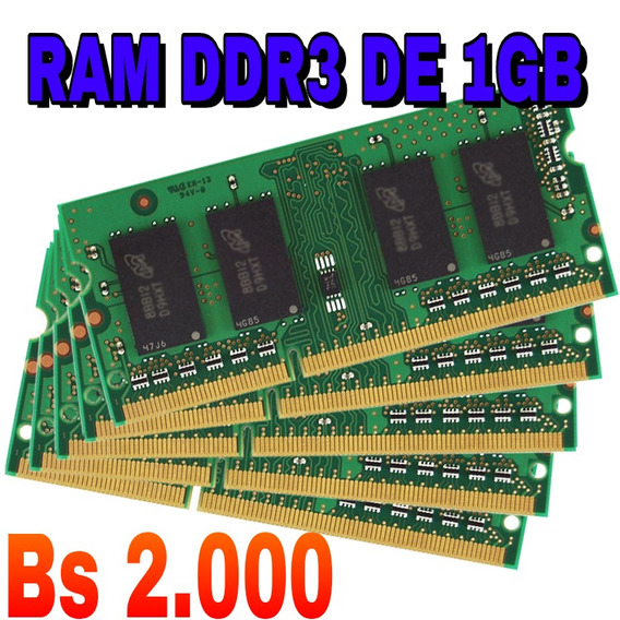 Memoria Ram Ddr3 De 1gb Para Laptops Y Mini Laptops