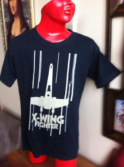 Camiseta X-wing Star War Infantil Nacional Usada
