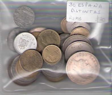 Lote De 30 Monedas De España Distintas ¡ Oferta !