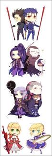 Plancha Stickers De Anime De Fate/stay Night Saber Assassin