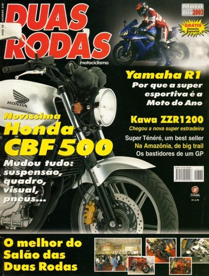 Duas Rodas N°338 Honda Cbf 500 Kawazaki Zzr 1200 Yamaha R1