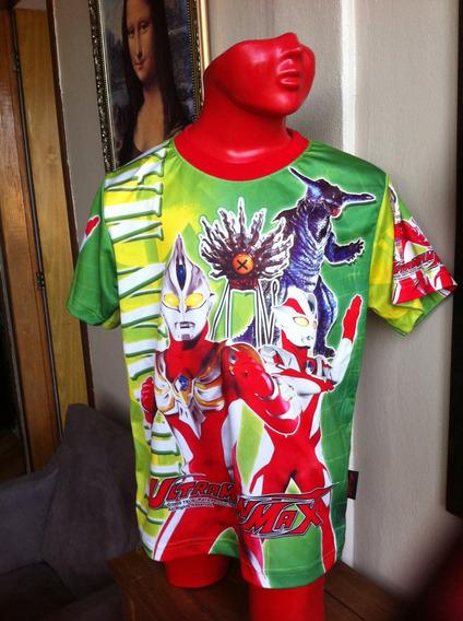 Camiseta Ultraman Max Infantil Importada Licenciada Usada