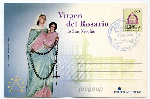 Entero Postal Correo Virgen Del Rosario San Nicolas 1998