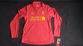 Camisa Liverpool 2012/2013 Home - M Longa - P - Com Etiqueta