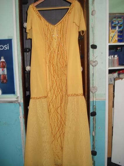 Vestido De Gasa Color Melon